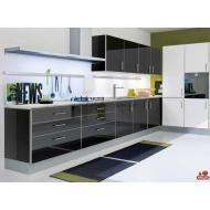 Кухня Мирор Глосс / MIRROR GLOSS черная - 1м.п.
