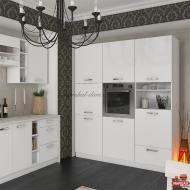 Кухня Шарлотта белая 1 м.п.