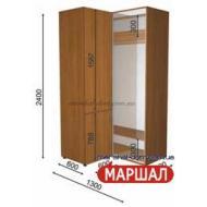 Угловой шкаф-купе+П1/2400 ((800-1300) х 2400 х 600)
