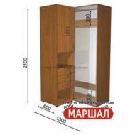 Угловой шкаф-купе+П3/2400 ((800-1300) х 2400 х 600)