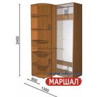 Угловой шкаф-купе+П4/2400 ((900-1300) х 2400 х 600)