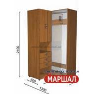 Угловой шкаф-купе+П3/2100 ((800-1300) х 2100 х 600)