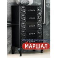 Спальня Пиония Глянец Черный - Серебро снято с производства!