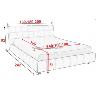 Кровать Люкс 140/160/180