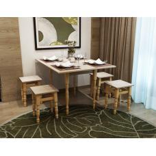 Комплект Модерн стол + 4 табуретки