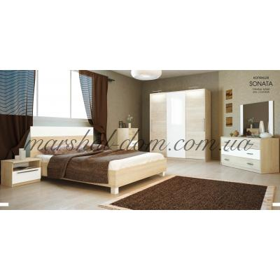 Спальня Соната / Sonata Глянец Белый/Дуб Сан Марино