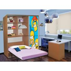 Шкаф-купе с кроватью 170х80х220