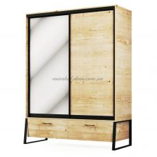 Лофт Шкаф 2Д2Ш МС