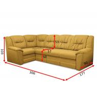 Угловой диван Бруклин А-31