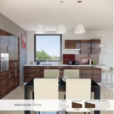 Кухня Хай Глосс / High Gloss палисандр глянец