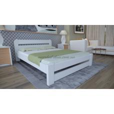 Белая деревянная кровать Престиж