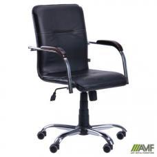Кресло AMF Самба-RC хром орех Скаден черный