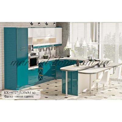 """Кухня серии """"Крашеный высокий глянец"""" КХ - 6727"""