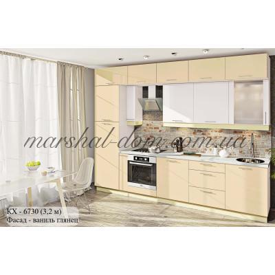 """Кухня серии """"Крашеный высокий глянец"""" КХ - 6730"""