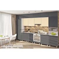 """Кухня серии """"Крашеный высокий глянец"""" КХ - 6728"""