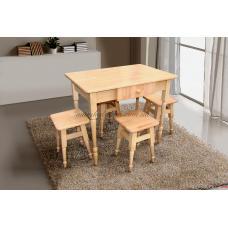 Комплект кухонный стол+4 табурета