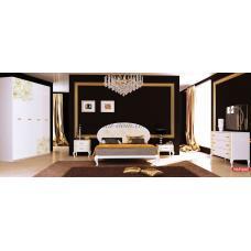 Спальня Пиония Глянец Белый - Золото
