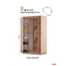 Шкаф - купе Виват ВУ1300 (фабрика временно не работает)