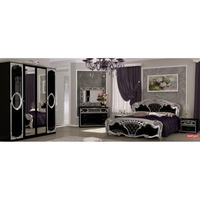 Спальня Реджина Black-Silver Глянец Черный