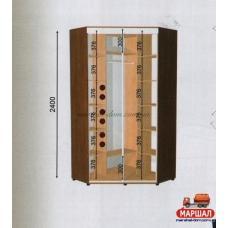Угловой шкаф-купе ШКУ - 1/2400 (1100х2400х1100)