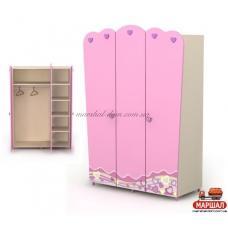 Трехдверный шкаф Pn-03 Pink