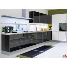 Кухня MIRROR GLOSS черная