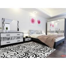 Спальня Терра Глянец Белый - Черный Мат Миро Марк (Украина-Италия) купить в Одессе, Украине