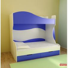 Детская кровать 2-х ярусная Теди