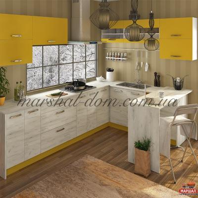 Кухня Шарлотта желтая 1м.п.