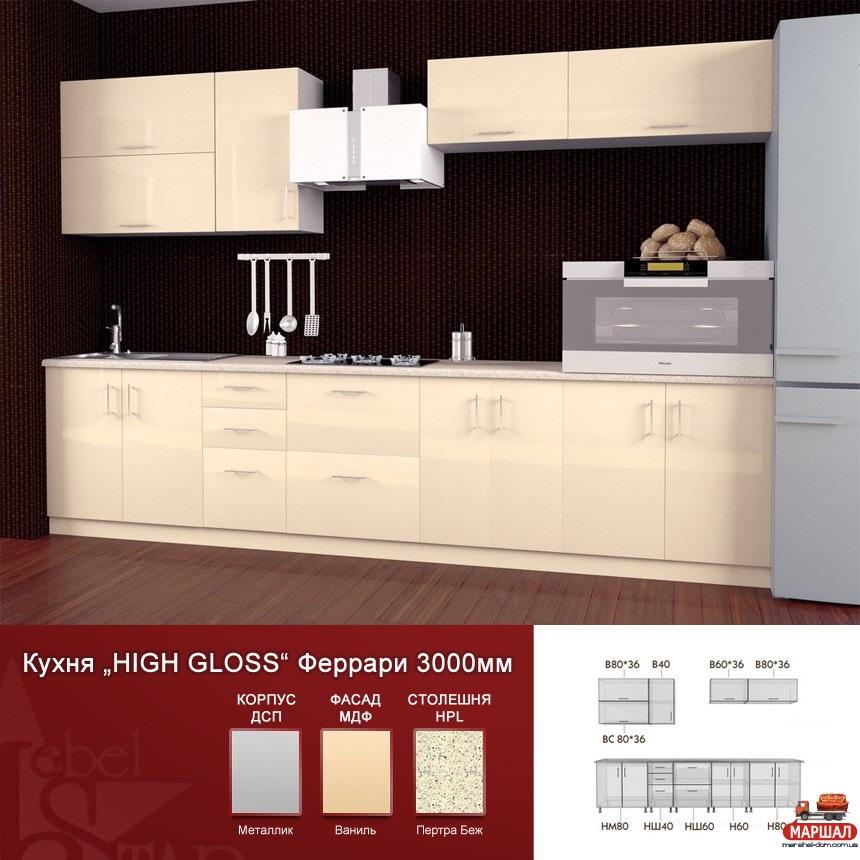 кухня Hige Gloss 4