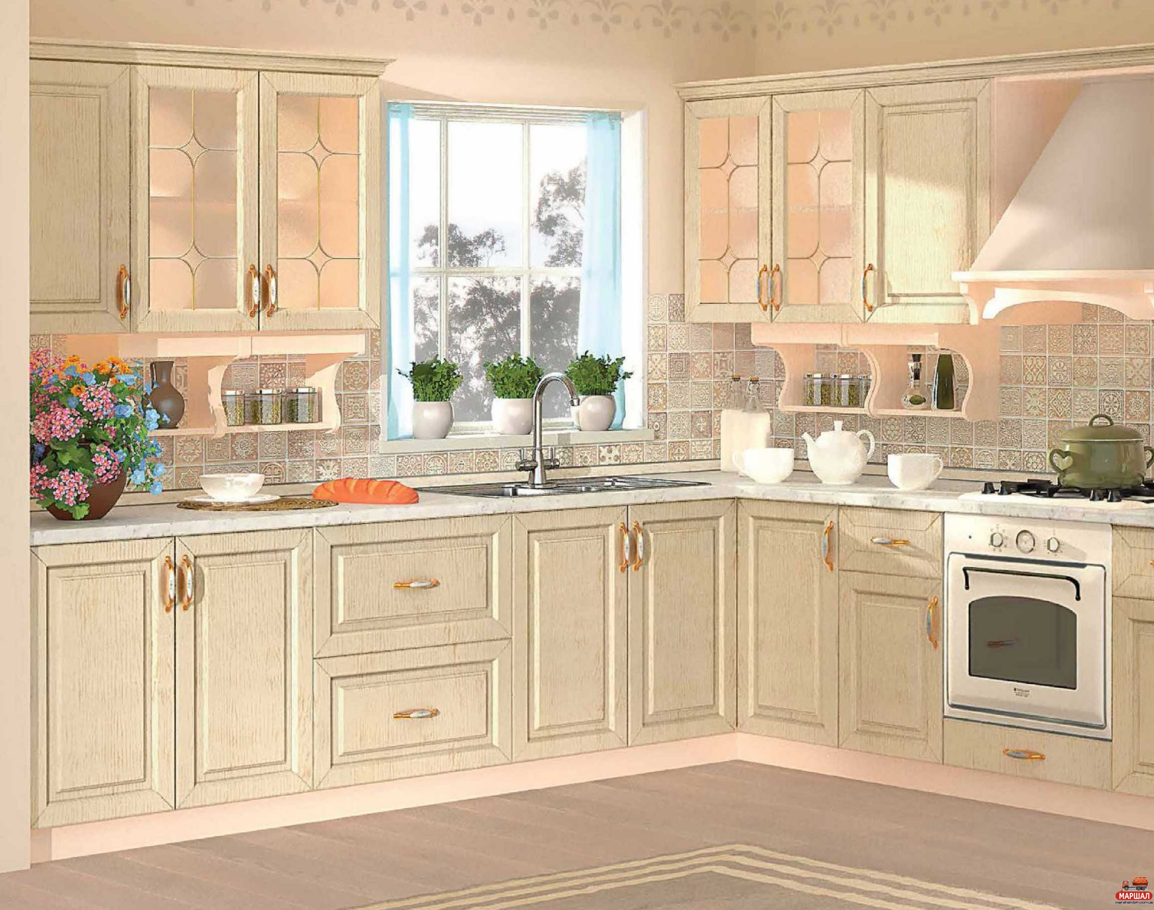кухня Prestige беж кухни мебельный интернет магазин маршал Marshal